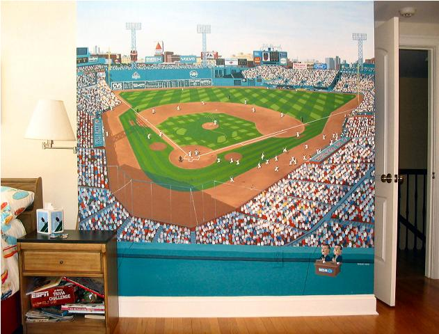 Yankee stadium wall mural interesting custom wall murals for Dodger stadium wall mural